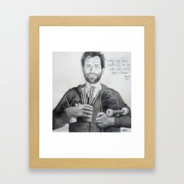 "Mark Gonzales - The Gonz - ""My Age has Nuthin to do with How Much Fun I have"" Framed Art Print"