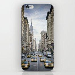 NEW YORK CITY 5th Avenue Street Scene iPhone Skin