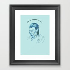 Kim K  Framed Art Print