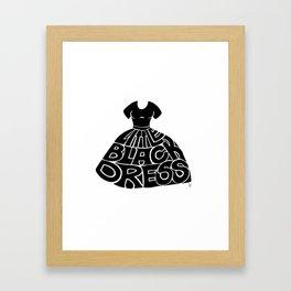 Little Black Dress Framed Art Print