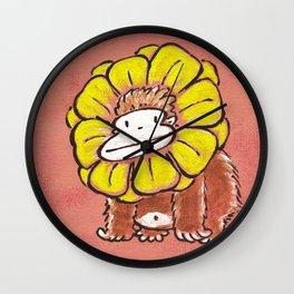Ape in Flower Ruff Wall Clock