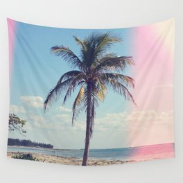 Palm Tree Light Leak Color Nature Photography Wall Tapestry
