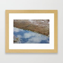 Rock platform Framed Art Print