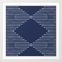Geo (Navy) Art Print