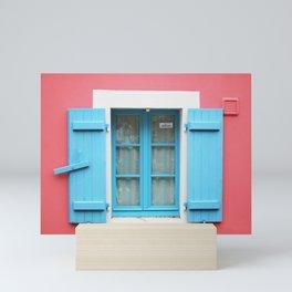 28. The Blue shutters, Bretagne, France Mini Art Print