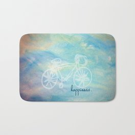 a happy bike ride. Bath Mat