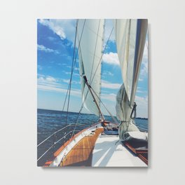 Sweet Sailing Metal Print