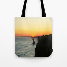 Sunset over the Great Southern Ocean Tote Bag