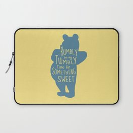 Rumbly in my Tumbly Time for Something Sweet - Pooh inspired Print Laptop Sleeve