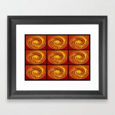 Abstract Collage Orange Art. Framed Art Print