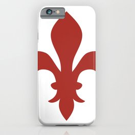 Fleur de Lis (Maroon & White) iPhone Case