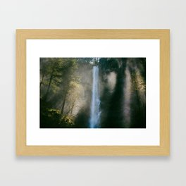 Enchanted Forest Waterfall Framed Art Print