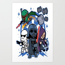 Darth Vader and Friends Art Print