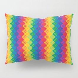 Rainbow Argyle Pillow Sham
