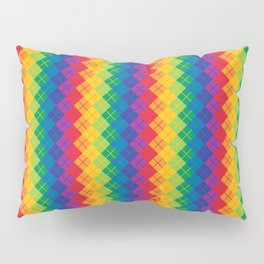 Rainbow Argyle Pillow Sham