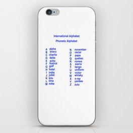International Alphabet iPhone Skin