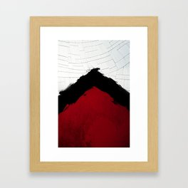 BLOOD RED RIBBON Framed Art Print