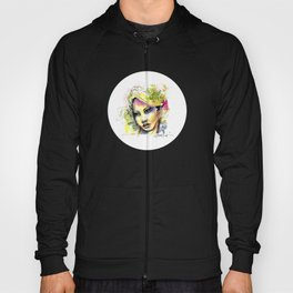 Abstract watercolor portrait Hoody