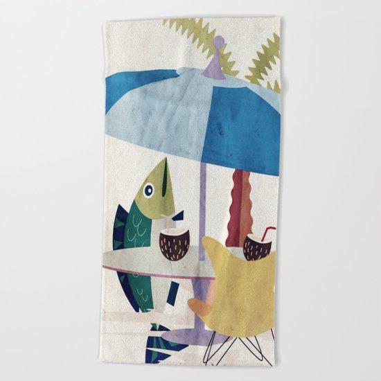 Fischzeit Beach Towel