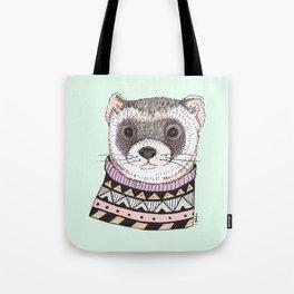 Hipster Ferret Tote Bag