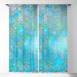Mermaid Shimmer Blackout Curtain