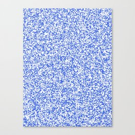 Tiny Spots - White and Royal Blue Canvas Print