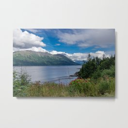 On The Road To Hope, Alaska Metal Print