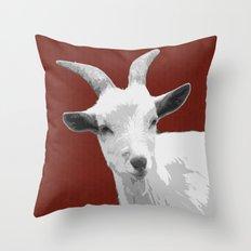 Goat Red Throw Pillow