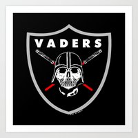 oakland Art Prints featuring Oakland Vaders by Ant Atomic