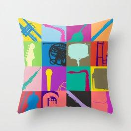 Pop Music Art Throw Pillow