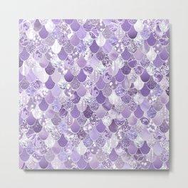 Mermaid Scales, Aesthetic Purple Metal Print