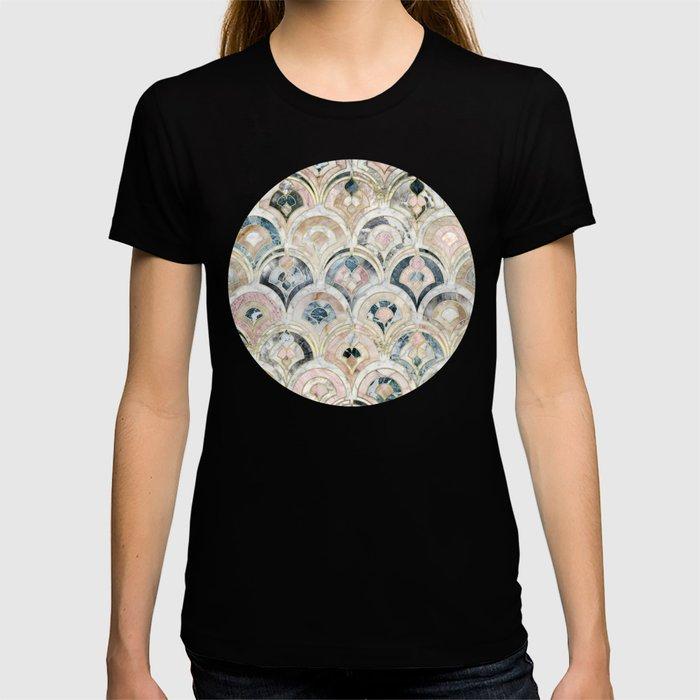Art Deco Marble Tiles in Soft Pastels T-shirt
