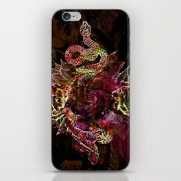 Volcanic Snake in Space iPhone Skin