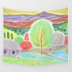 the missing landscape Wall Tapestry