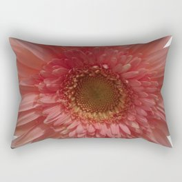 Dusky Pink Gerbera Daisy Rectangular Pillow