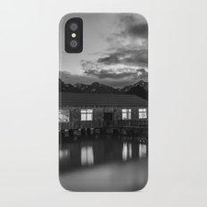 Black and White China Boathouse iPhone X Slim Case