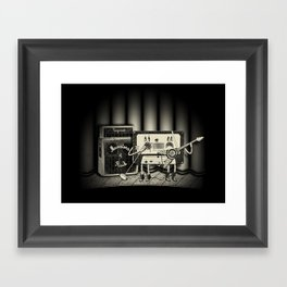 Conjoined Monsters of Rock Framed Art Print