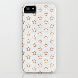 Chic white faux gold glitter modern stars pattern iPhone Case