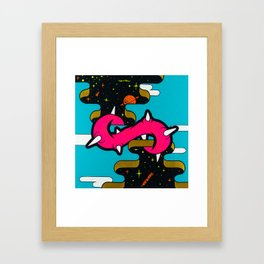 The Unknown 1 -  mysterious space portals Framed Art Print