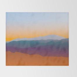 Sunset in Rhodes Throw Blanket