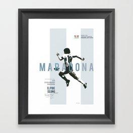 #10 Maradona // World Cup • Football Stars  Framed Art Print