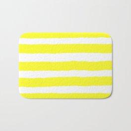 Have a Great Day Yellow Stripe Print Bath Mat
