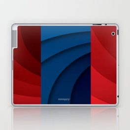 Red and blue color gradient Laptop & iPad Skin