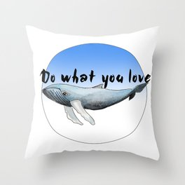 Big Whale Throw Pillow
