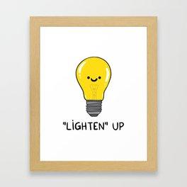 LIGHTEN up Framed Art Print