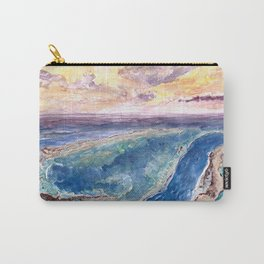 Great Barrier Reef at sunset - aerial view - coral reef - wall art Carry-All Pouch