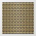 Black and Gold Geometric Pattern 4 by klaraacel