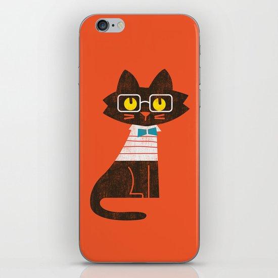 Fitz - Preppy cat iPhone & iPod Skin