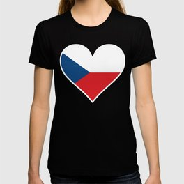 Czech Flag Heart T-shirt