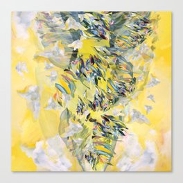 Yellow Flower Storm Canvas Print